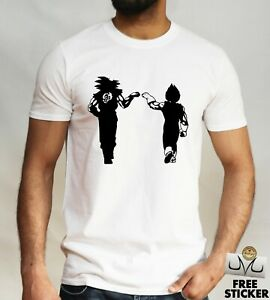 Goku-Vegeta-Gracioso-T-Shirt-Tee-parodia-Dbz-Dragon-Ball-Z-Anime-Top-Para-Hombre-S-XXL