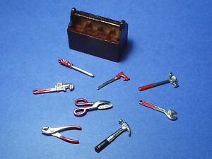 Hand Tools metal dollhouse miniatures 1//12 scale IM65104 6pcs brace pliers