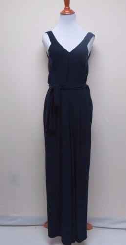 Navy Jumpsuit 150 W Msrp Lauren Belted 4 Ralph Size pocket p199 54Fqpan