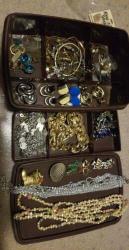 Junk Drawer Lot of Retro Vintage Costume Jewelry