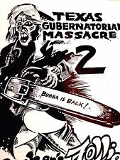 TEXAS CHAINSAW MASSACRE 86 Creepy ORIGINAL PUNK Poster Gubernatorial by Awn