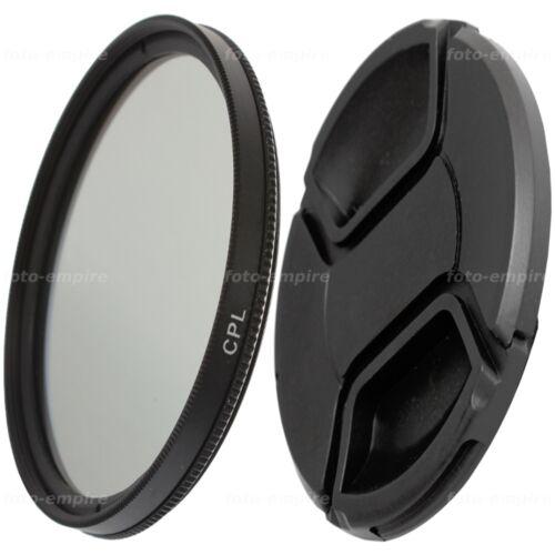 49mm CPL filtro polarizador circular y tapa del lente objetivo tapa snap