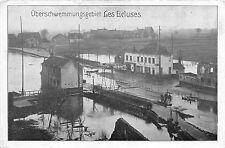 Hochwasser Überschwemmungsgebiet Les Ecluses Feldpostkarte 1916