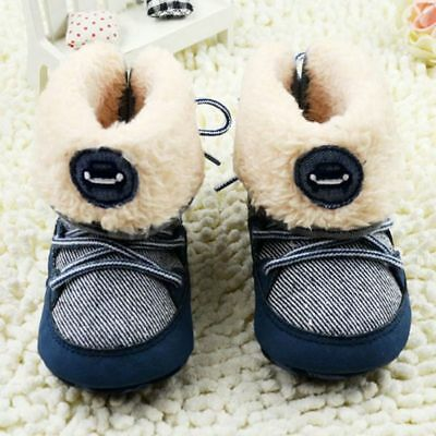 Baby Girl Boy Soft Sole Lace up Booties Snow Boots Toddler Newborn Crib Shoes