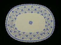 Blairs England  Servierplatte 27,5 cm blaues Liliendekor