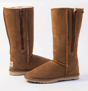3ff7b6d0a76 Details about Breezer Long / Tall Ugg Boots with Zip / Zipper Premium  Australian Sheepskin