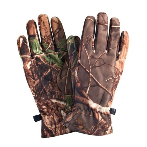 1 Pair of Camo Hunting Gloves Full Finger Gloves Outdoor Hunting Camouflage Gear