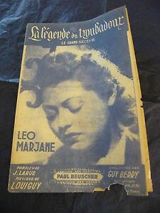 Partitura-La-leyenda-du-trovador-leo-Marjane-1942-Music-Sheet