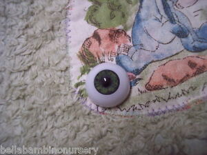 AcRyLiC ReALiSTiC EyEs 26MM MoSs GrEeN ~ REBORN DOLL SUPPLIES