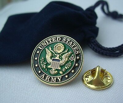 Masonic Freemason United States USA Army Armed Forces Lapel Pin Plus Gift Pouch