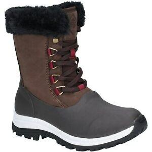Amical Muck Boots Apres Botte Imperméable Dentelle Mid Women's Weather Wellington-afficher Le Titre D'origine