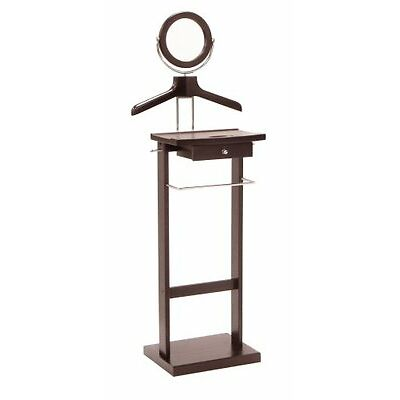 Winsome 92155 Wood Valet Stand with Mirror and Drawer Espresso $151