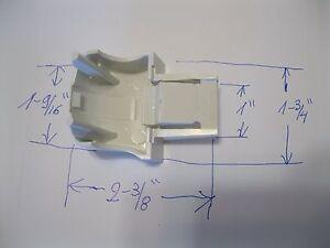 NEW GE HOTPOINT REFRIGERATOR FREZER DOOR SHELF BAR END CAP~162D1162~BRACKET~OEM