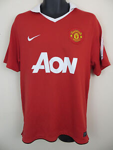 the best attitude 394db 17c8d Image is loading Nike-2010-11-Manchester-United-Football-Shirt-EPL-