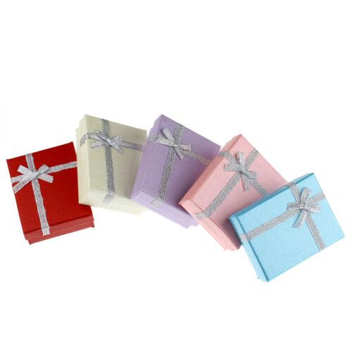 50 Mixte Bijoux Boîtes pr Bijou cadeau Papier Motif Rectangle 9x7cm B31370