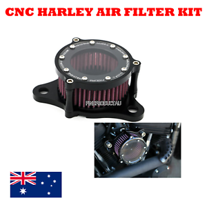 Black-CNC-Air-Cleaner-Intake-Filter-Harley-Sportster-iron-XL-883-1200-48-custom