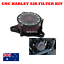 Black-CNC-Air-Cleaner-Intake-Filter-Harley-Sportster-iron-XL-883-1200-48-custom thumbnail 1