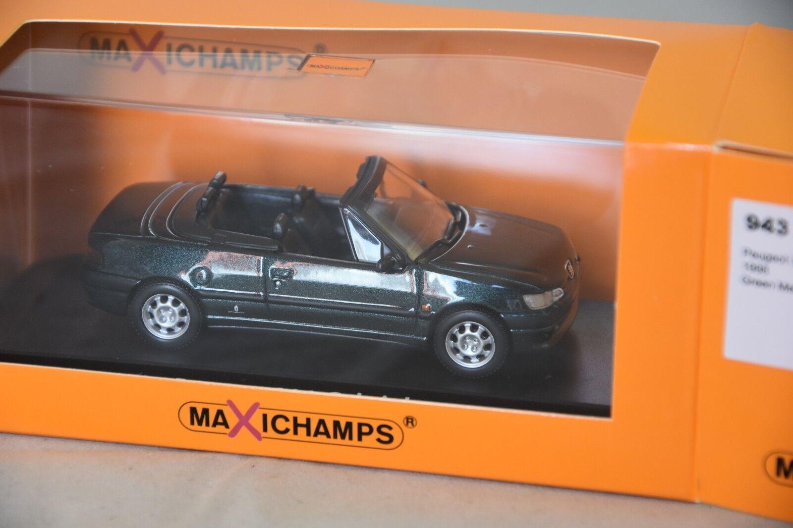 Minichamps maxichamps 943112833 - Peugeot 306 Cabriolet  1998 vert 1 43
