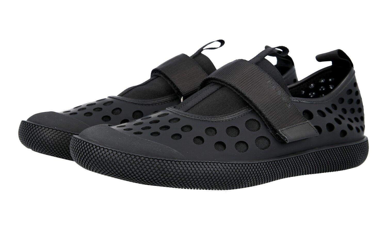 shoes PRADA LUXUEUX 2OG042 black NOUVEAUX 10,5 44,5 45