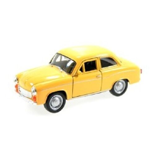 WELLY MODELL SYRENA 105 GELB YELLOW Welly Modell PRL Auto 1:34-39 NEU /& OVP
