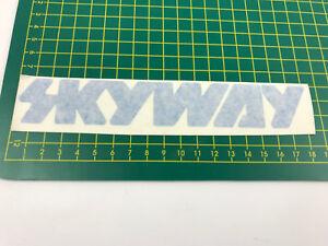 old school bmx decals stickers skyway rub on blue
