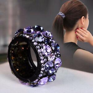 Holder-Ring-Hair-Holder-Buckle-Crystal-Hair-Bun-Maker-Mini-Claw-Hair-Clip