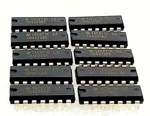 10-PCS-Texas-Instruments-CD4070BE-IC-GATE-QUAD-XOR-GATE-2I-P-DIP-14