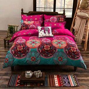 Shatex  Comforter Sets Queen Size 3Pcs Reversible luxurious 100% Polyester Boho