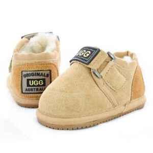 acddea6d660 Details about Originals Ugg Australia Sheepskin Slipper Baby Toddler Walker  Boy Girl Nonslip