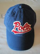 "Mens Polo Ralph Lauren Navy Blue Cloth ""Football"" Baseball Cap Hat NWT $49.50 S"