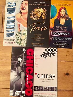 WEST END MUSICALS-MAMMA MIA TINA TURNER/CHESS/COMPANY/CHICAGO  FLYERS/HANDBILLS | eBay
