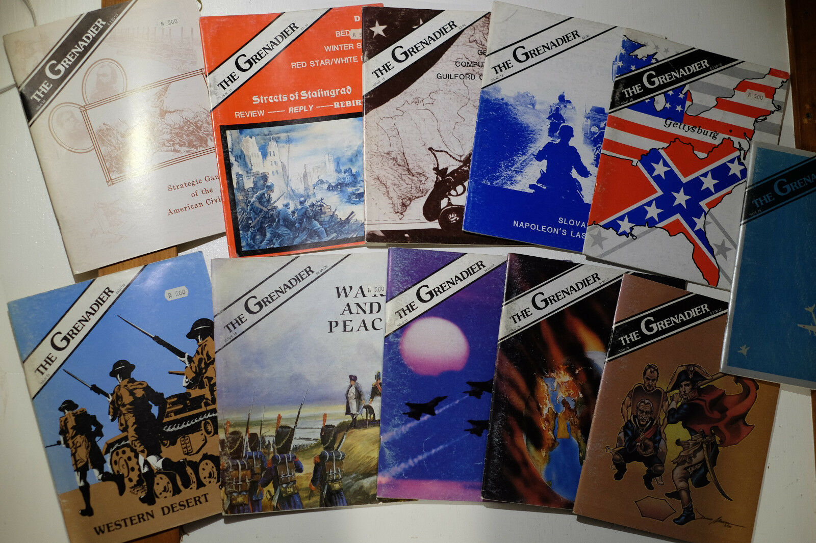 The grenadier Wargaming magazines, 11 cuadernos issues, 1982-1987