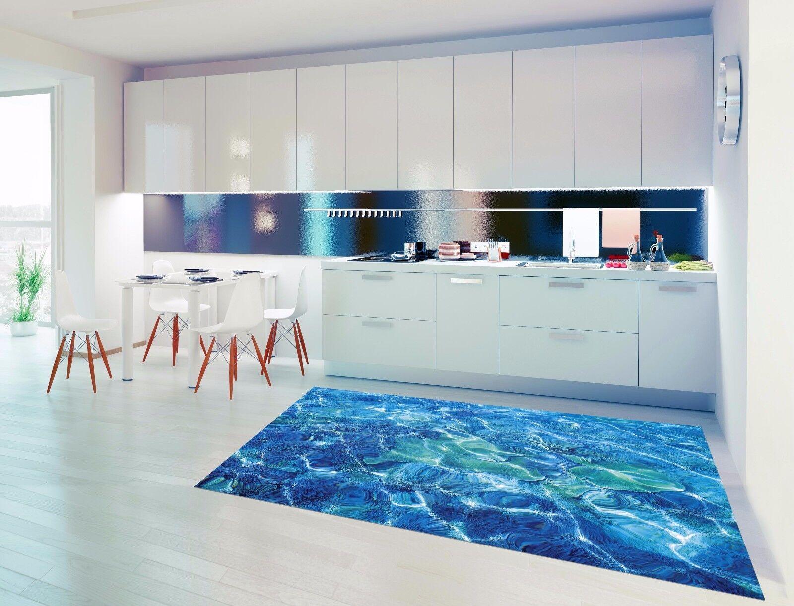 3D Blau Ripple 84 Kitchen Mat Floor Murals Wall Print Wall AJ WALLPAPER UK Kyra
