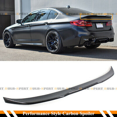 AeroBon Real Carbon Fiber Rear Trunk Spoiler Compatible with 2017-2020 BMW G30 5-Series Sedan Performance Style