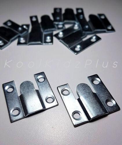 8 pieces 4 PAIRE FLUSH Mounts 35 x 35 mm Crochets Zinc Plaqué Interlocking Articulations