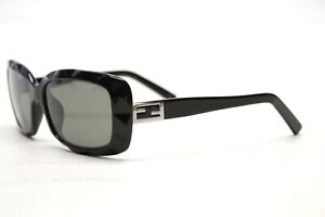 Fendi-FS5142-Womens-Sunglasses-FRAMES-ONLY-Black-Silver-FF-Logo-Rectangle-Italy