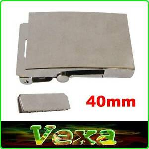 Metal BUCKLE Nickel plated for webbing strap 40mm Silver Set with ... 652aa4e2fe0