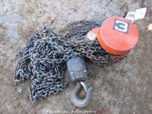 2014 Cyclone Chain Hoist 3 Ton Lifting Capacity Chain Fall Come A Long bidadoo