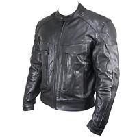 Bandit Style Black Premium Naked Leather Cruiser Motorcycle Jacket Retail $219