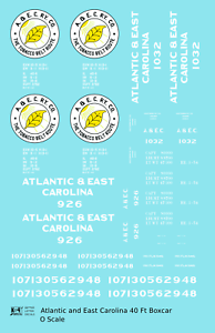 K4-O-Decals-Atlantic-and-East-Carolina-40-Ft-Boxcar-White-Tobacco-Belt-Route
