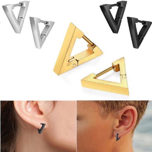 Fashion Punk Rock Alloy Triangle Hoop Ear Studs Earrings Jewelry Gift 8C