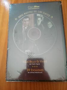 QUE-BELLO-ES-VIVIR-39-ESCALONES-DVD-ALFRED-HITCHCOCK-FRANK-CAPRA-NEW-NUEVA