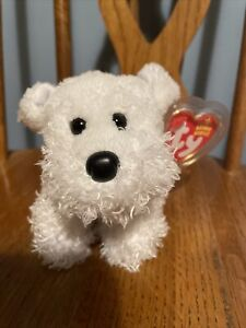 Ty Beanie Baby Farley The White West Highland Terrier Dog Mint With Mint Tags