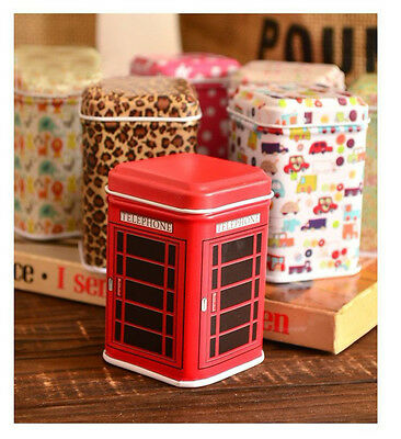 New Candy Trinket Tin Jewelry Iron Pill Tea Coin Storage Square Box Case