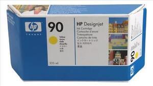 Genuine-Autentico-Hewlett-Packard-HP-90-Cartuccia-di-Inchiostro-Giallo-225ML-C5064A