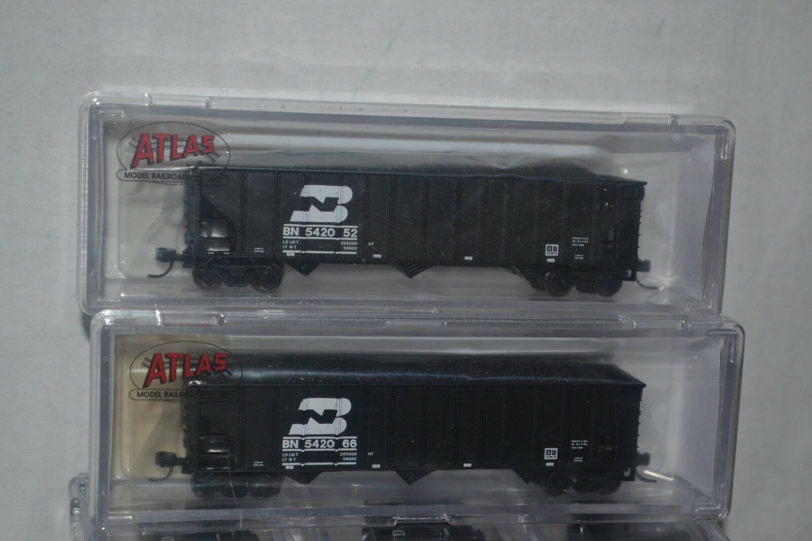 2 Atlas BN Burlington Northern 90t Hopper Car N scale 50001836, 1837