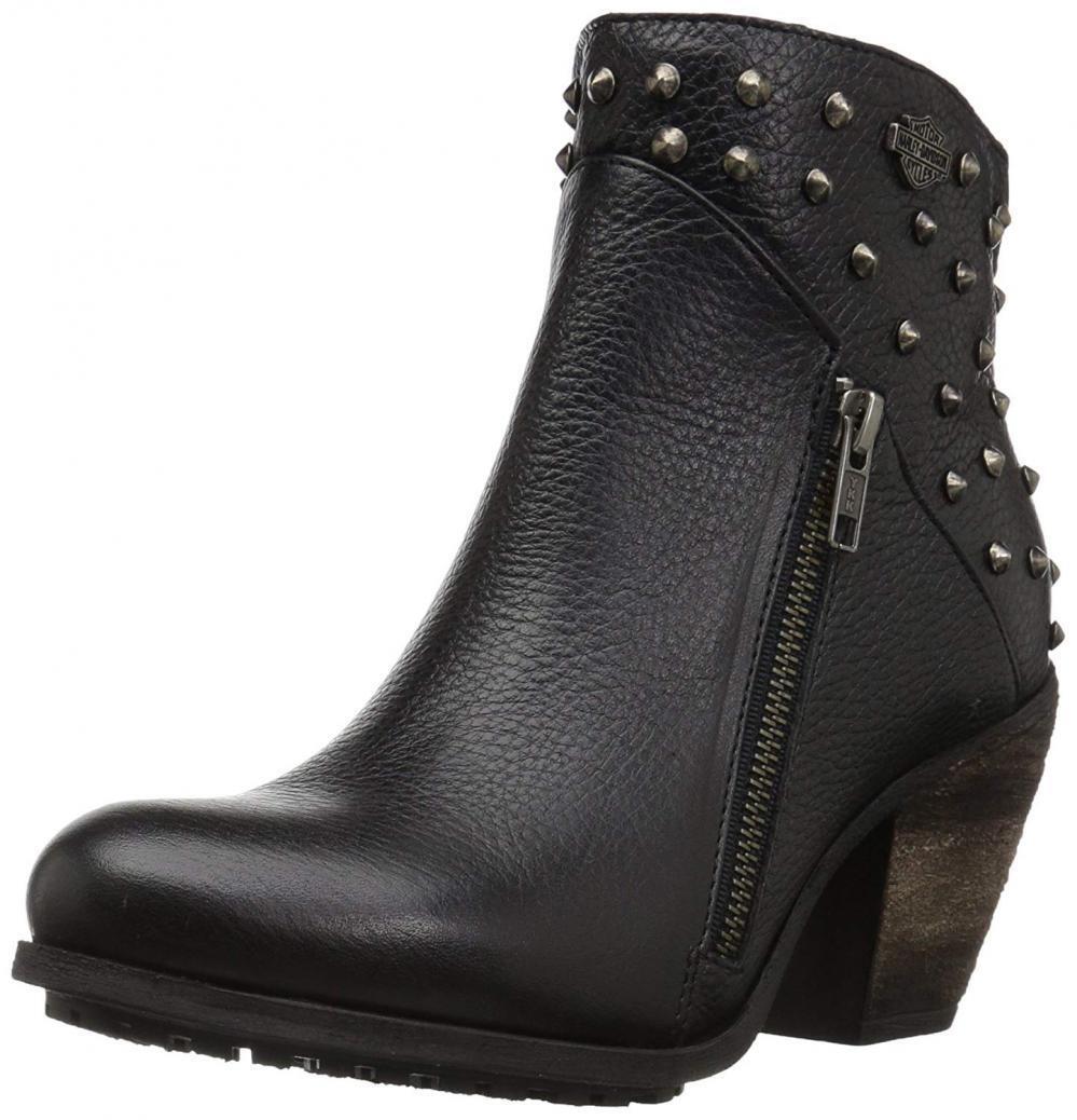 Harley-Davidson Women's Wexford Fashion Boot Leather Booties High Chunky Heel