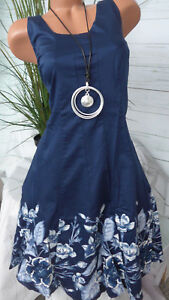 58 Nieuw met met jurkje patroon 254 455 40 Jurk Sheego van blauwe tot tint AYqwP