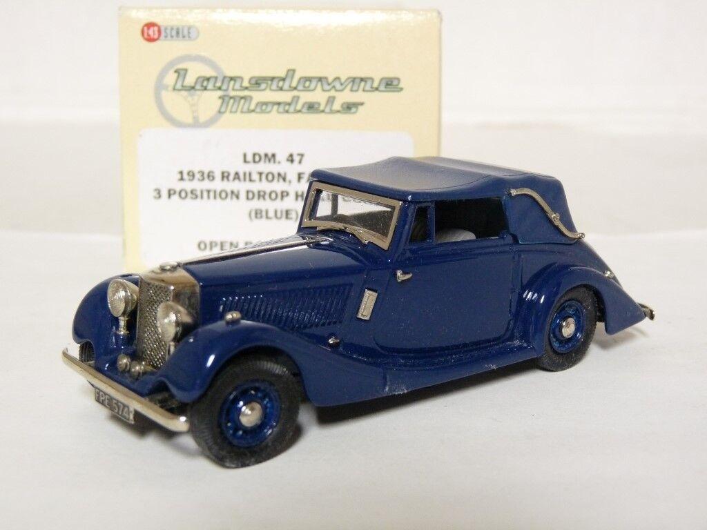 LANSDOWNE LDM47 1 43 1936 Railton Fairmile DHC Handmade Métal Blanc Voiture Modèle
