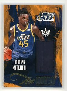 2017-18-DONOVAN-MITCHELL-JERSEY-PANINI-COURT-KINGS-ROOKIE-RC-ART-NOUVEAU
